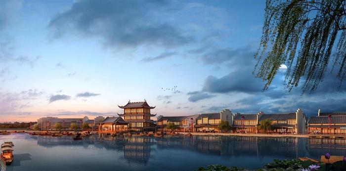 江南中式文化旅游景区商业街步行街方案设计全套文本
