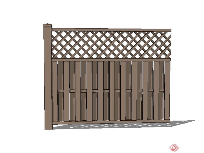 某现代栏杆围栏设计su模型素材