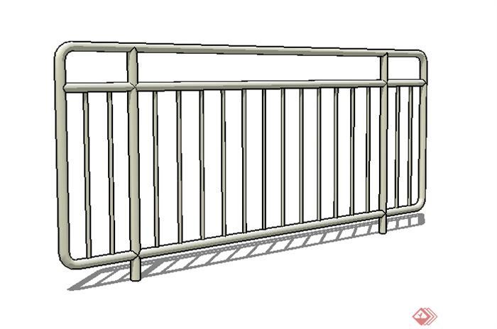 某现代不锈钢栏杆设计su模型(1)