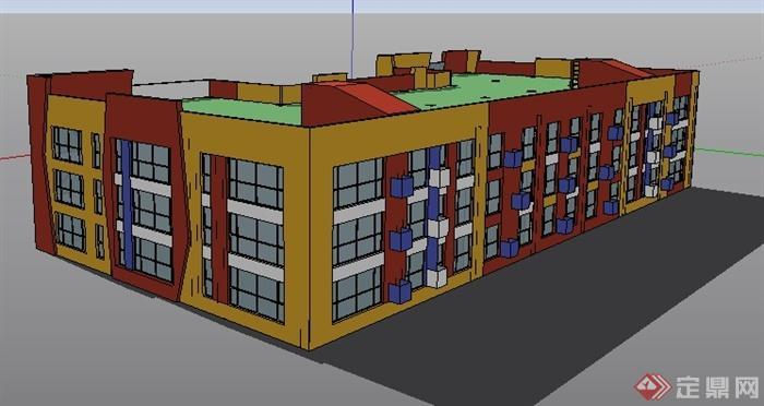 某幼儿园建筑方案设计su模型