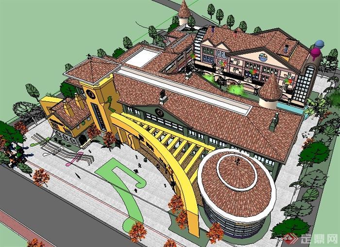 某幼儿园建筑规划设计su模型[原创]