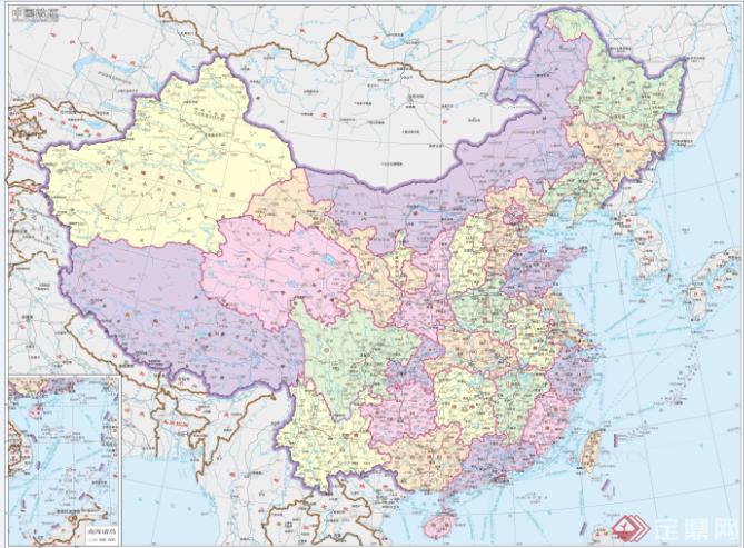 中国全国政区地图