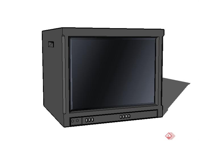 某现代家具陈列电视机设计su模型素材