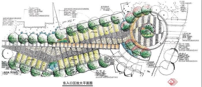 某住宅小区建筑景观规划方案手绘图