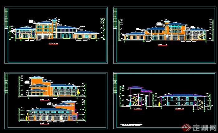 某v房屋所建筑立面图CAD房屋怎么2图纸图纸载入冒险岛图片