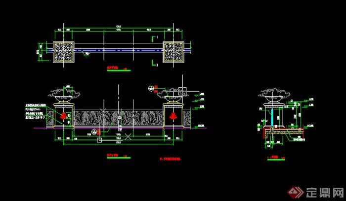 园林景观拱桥木桥石桥做法节点CAD施工图[原cad水龙头平面图例图片