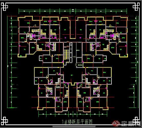 某高层住宅户型平面图 2