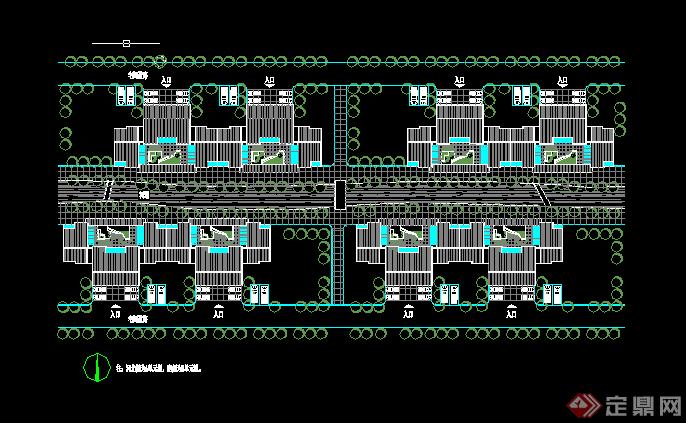 某小区多层建筑住宅楼施工图CAD图纸
