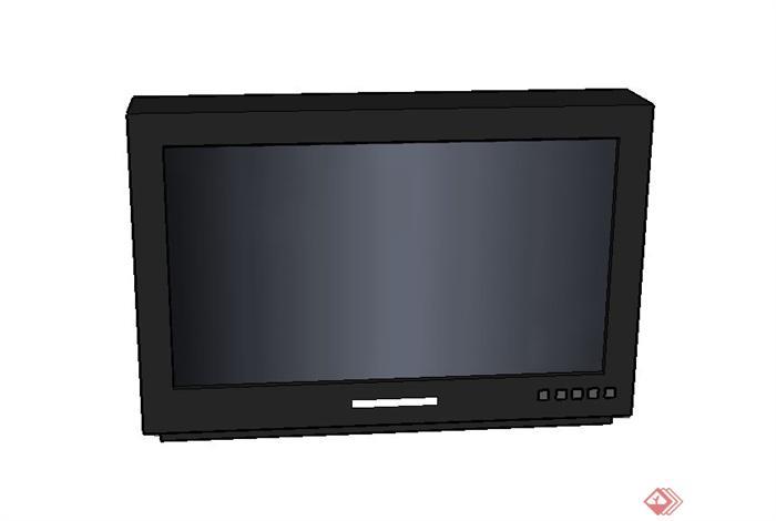 一台电视机设计su模型素材