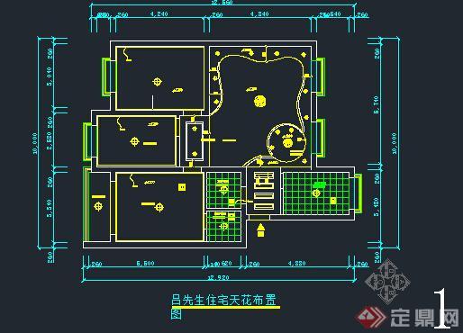 某室内装饰设计天花顶棚cad施工图(2)