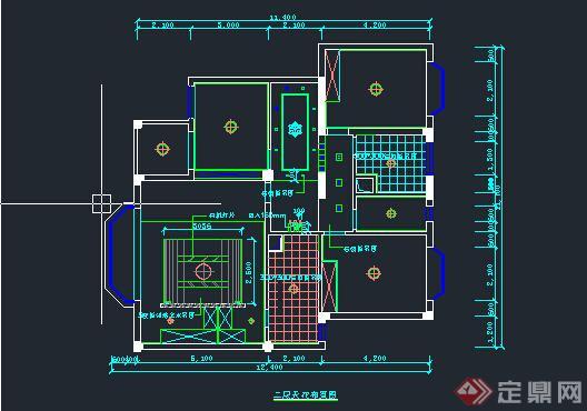 某室内装饰设计天花顶棚cad施工图(3)