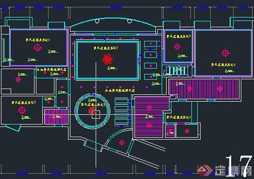 某室内装饰设计天花顶棚cad施工图(5)