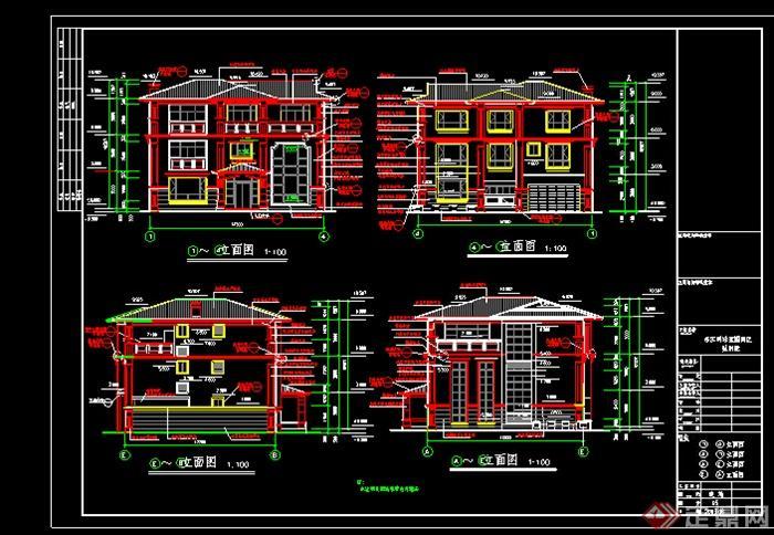 某欧式风格酒店建筑设计施工图纸(dwg格式)