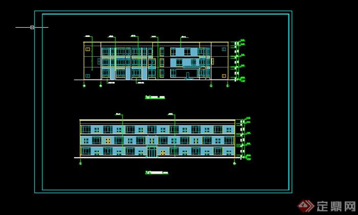 某现代多层住宅楼房施工图设计cad参考
