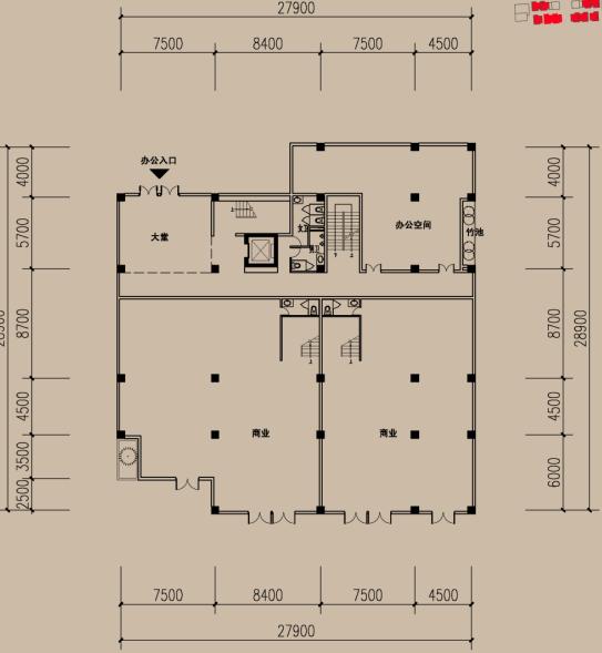 某现代风格多层住宅建筑设计户型图 dwg格式 2
