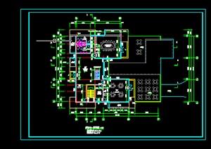 某地一接待中心建筑设计施工图CAD图纸