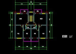 某地现代风格多层住宅建筑设计户型图(dwg格式)1-现代DWG建筑规