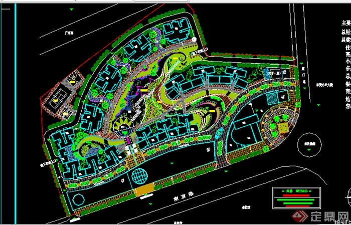 某综合小区景观规划平面CAD图纸