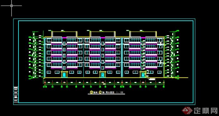 某多层住宅楼建筑施工图设计参考CAD