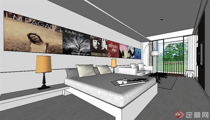单身公寓室内陈设设计图展示