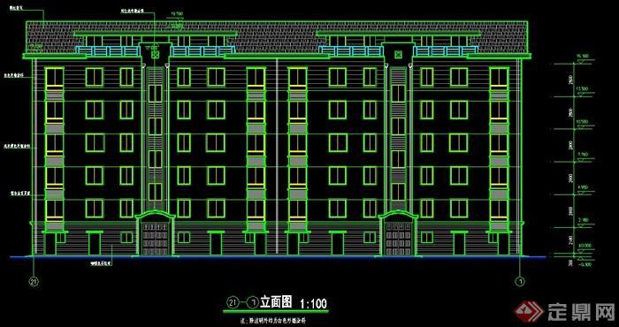 某多层住宅楼建筑设计施工图CAD图纸