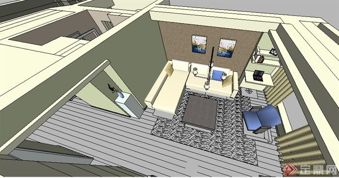 某室内住宅空间设计su模型素材参考[原创]