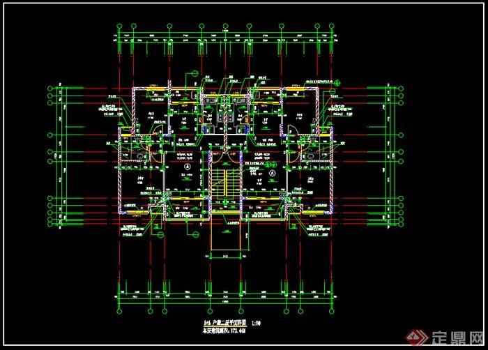 某现代风格多层住宅建筑设计户型图 dwg格式 3