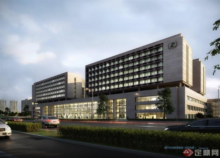 多个医院建筑设计效果图 JPG格式