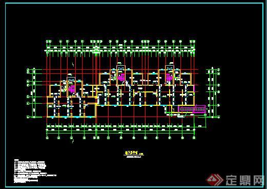 某市一居住区多层住宅建筑设计施工图CAD图纸