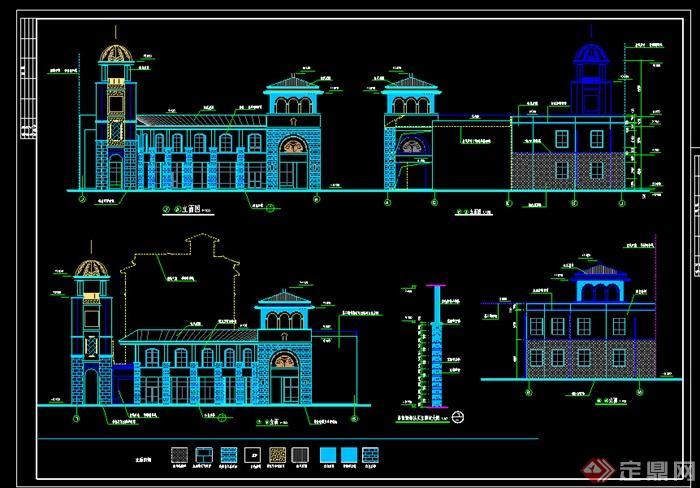 某欧式风格多层商业建筑设计施工图(dwg格式),该施工图设计精美细致,细节处理较好,标注明确,是比较好的住宅建筑设计施工图,值得网友借鉴下载。