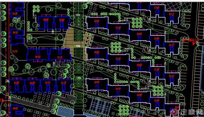 某居住小区总平面图景观设计CAD图纸图片