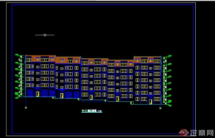 某多层转角楼住宅楼设计图CAD图纸图片