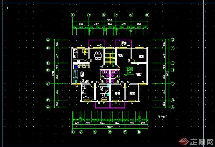 某住宅楼图纸标准层平面图改造CAD户型需要哈曼图纸设计图片