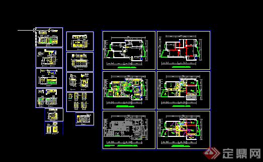 度假酒店户型图平面图CAD图纸