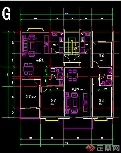 一梯一户、一梯两户住宅户型平面图(1)