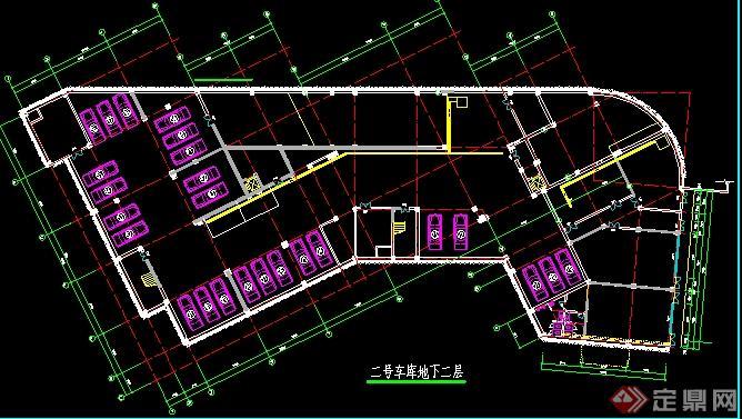 某小区地下车库设计平面方案图