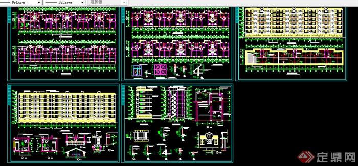 某120平米住宅及错层建施图带效果图CAD图纸