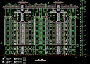 某欧式小高层住宅楼建筑设计施工图图片