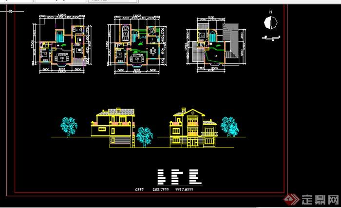 某现代多层住宅户型CAD图纸设计