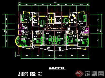 5个单元楼住宅楼户型平面图
