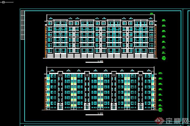 某经典小户型住宅楼方案设计CAD图纸