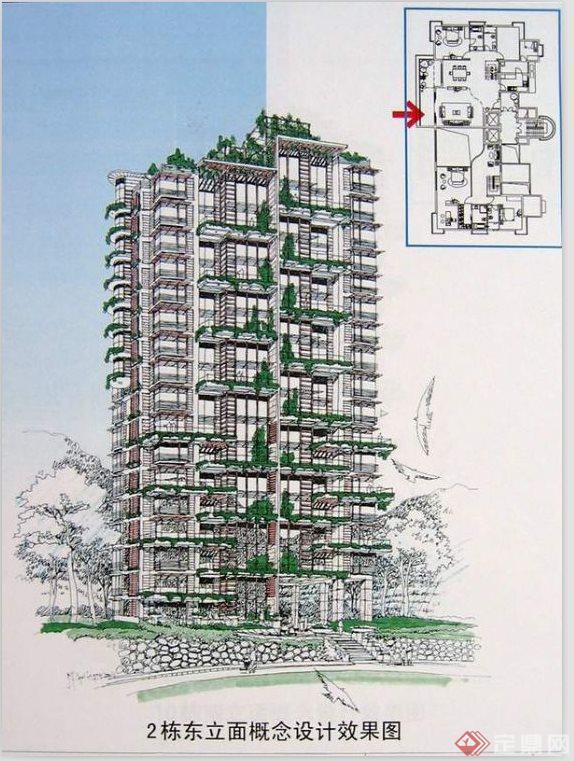 小区规划设计图手绘图展示