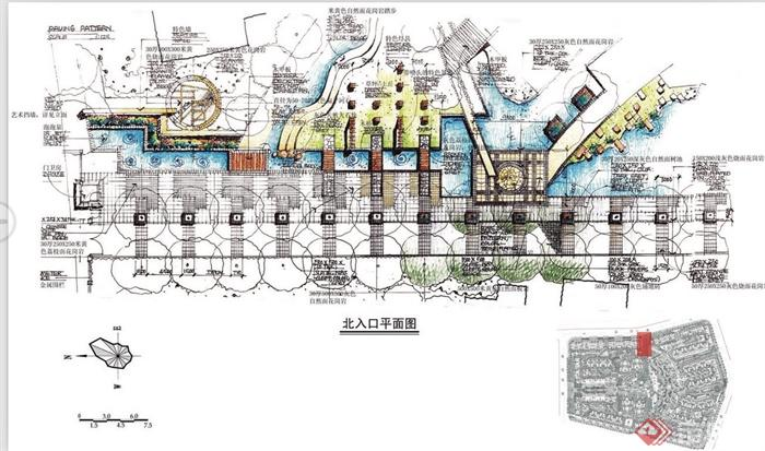 某住宅小区规划设计手绘方案图