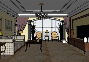 文化广场设计欧陆室内设计素材室内装修效果图模型等图片