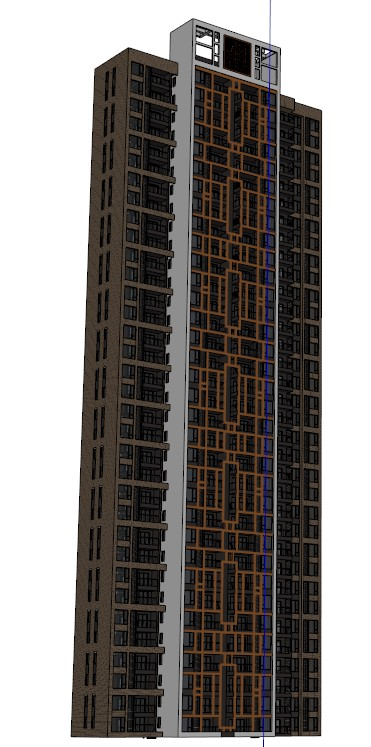 某现代中式高层住宅建筑设计 含效果图 户型图 SU模型