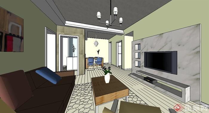 某室内空间模型煤矿供电SU客厅[原创]图纸设计餐厅绘制规范图片