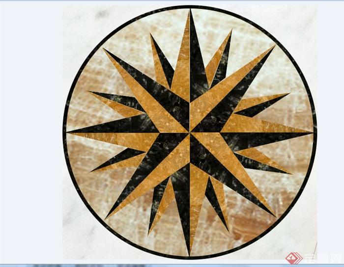 某现代地板拼花贴图设计