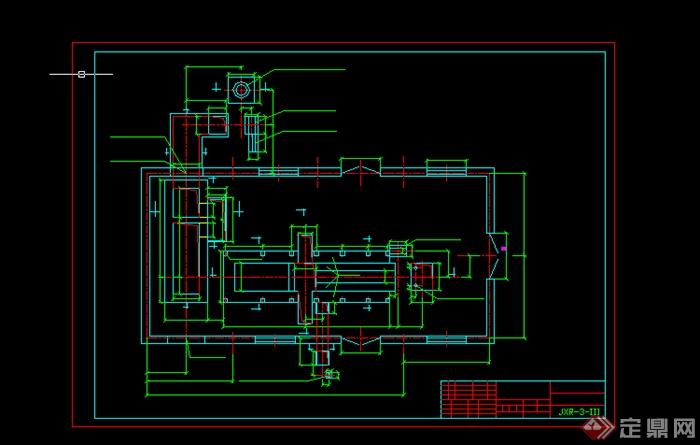 某锅炉基础结构图设计cad图纸[原创]