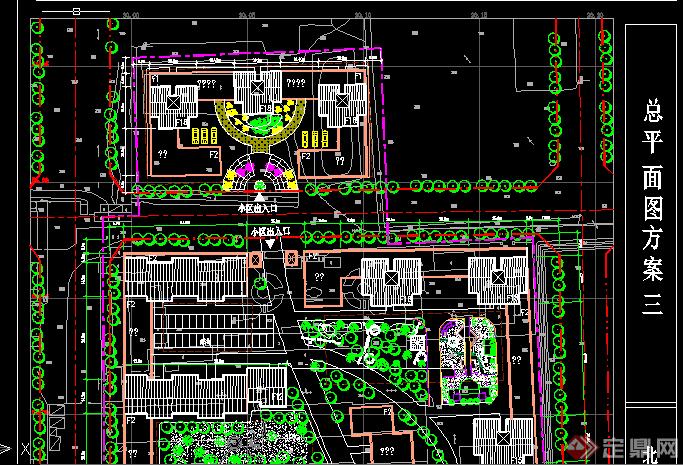 住宅小区景观规划总平面设计CAD方案