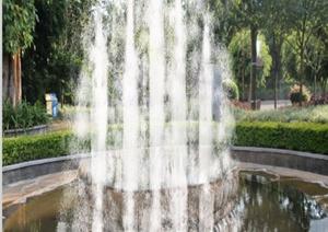 某流水和喷泉设计的实景图
